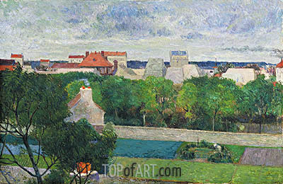 The Market Gardens of Vaugirard, 1879 | Gauguin | Painting Reproduction