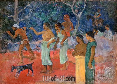 Scene from Tahitian Life, 1896 | Gauguin| Painting Reproduction
