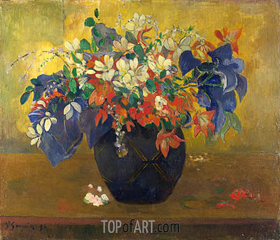 A Vase of Flowers, 1896 | Gauguin | Gemälde Reproduktion