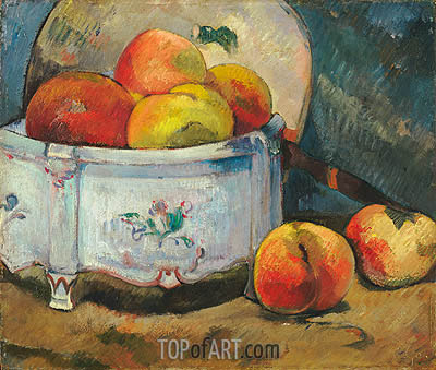 Still Life with Peaches, c.1889 | Gauguin| Painting Reproduction