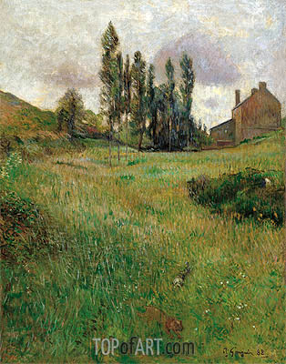 Dogs Running in a Meadow, 1888 | Gauguin | Painting Reproduction