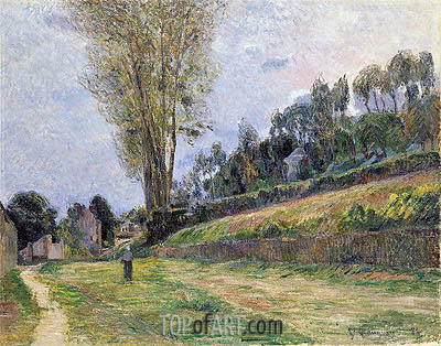 An Orchard under the Church of Bihorel, 1884 | Gauguin| Painting Reproduction