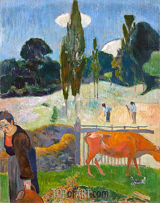 The Red Cow, 1889 | Gauguin | Painting Reproduction