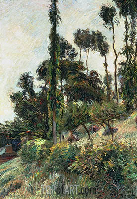 The Side of the Hill, 1884 | Gauguin| Painting Reproduction