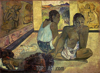 Te Rerioa (Day Dreaming), 1897 | Gauguin | Painting Reproduction