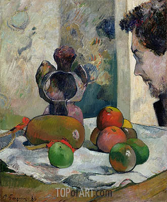 Still Life with Profile of Laval, 1886 | Gauguin | Gemälde Reproduktion
