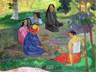 Les Parau Parau (The Gossipers), 1891 | Gauguin | Painting Reproduction