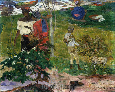 Tropical Conversation, 1887 | Gauguin | Painting Reproduction