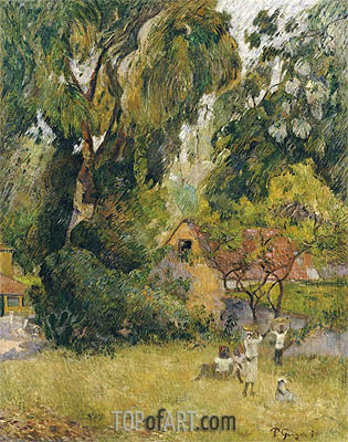 Huts under the Trees, 1887 | Gauguin| Painting Reproduction