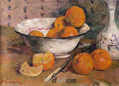 Still Life with Oranges, 1881 | Gauguin | Painting Reproduction