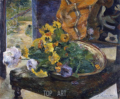 To Make a Bouquet, 1880 | Gauguin | Painting Reproduction