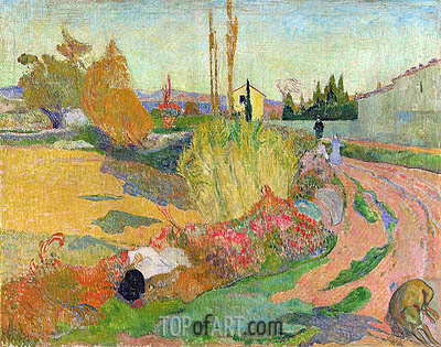 Landscape at Arles, 1888 | Gauguin | Painting Reproduction