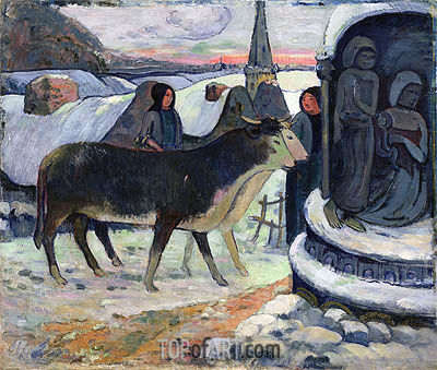 Christmas Night (The Blessing of the Oxen), c.1902/03 | Gauguin| Painting Reproduction