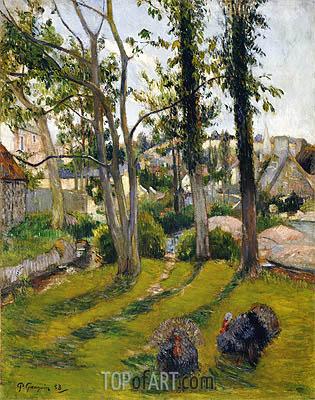 Gauguin | The Turkeys (Pont Aven Landscape), 1888