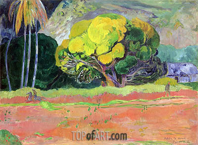 Fatata te Moua (At the Foot of the Mountain), 1892 | Gauguin | Painting Reproduction