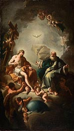 Holy Trinity, c.1726/28 by Paul Troger   Painting Reproduction