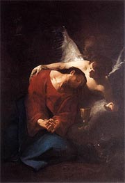 Christ Comforted by an Angel, c.1730 by Paul Troger | Painting Reproduction