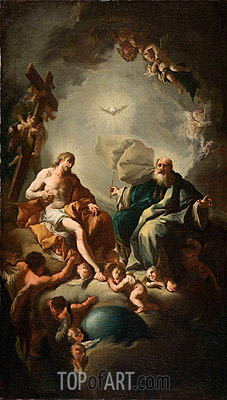Holy Trinity, c.1726/28 | Paul Troger| Painting Reproduction