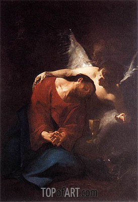 Christ Comforted by an Angel, c.1730 | Paul Troger | Painting Reproduction