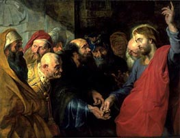 The Tribute Money | Rubens | Painting Reproduction