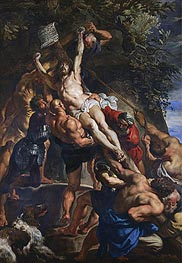 The Elevation of the Cross, c.1610/11 by Rubens | Painting Reproduction