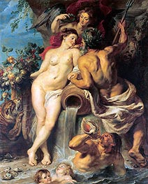 The Union of Earth and Water, c.1618 von Rubens | Gemälde-Reproduktion