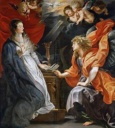 The Annunciation, 1609 von Rubens | Gemälde-Reproduktion
