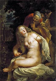 Susanna and the Elders, c.1607 by Rubens | Painting Reproduction