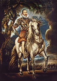 Equestrian Portrait of the Duke of Lerma, 1603 von Rubens | Gemälde-Reproduktion