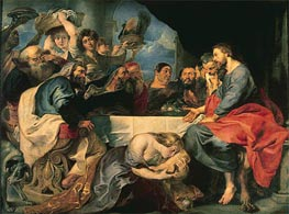 Feast in the House of Simon the Pharisee, c.1618/20 von Rubens | Gemälde-Reproduktion
