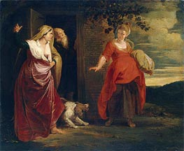 Hagar Leaves the House of Abraham, c.1615/17 by Rubens | Painting Reproduction