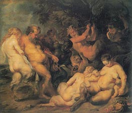 Bacchanalia, c.1615 by Rubens | Painting Reproduction