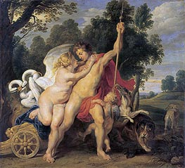 Venus and Adonis, c.1615 by Rubens | Painting Reproduction