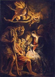 The Adoration of the Shepherds, 1608 by Rubens | Painting Reproduction
