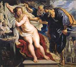 Susanna and the Elders, c.1609/10 by Rubens | Painting Reproduction