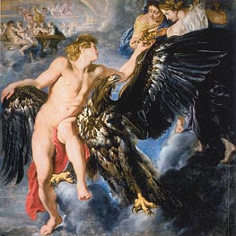 The Abduction of Ganymede, c.1611/12 by Rubens | Painting Reproduction