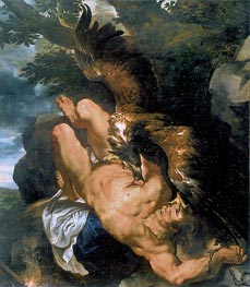 Prometheus Bound (Rubens and Snyders), c.1610/11 by Rubens | Painting Reproduction