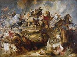 The Battle of the Amazons, 1618 by Rubens | Painting Reproduction