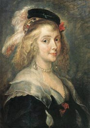 Portrait of Helena Fourment, c.1630 by Rubens | Painting Reproduction