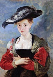 The Straw Hat (Portrait of Susanna Lunden), c.1625 by Rubens | Painting Reproduction