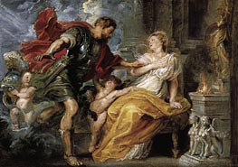 Mars and Rhea Silvia, c.1616/17 by Rubens | Painting Reproduction