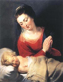 Virgin in Adoration before the Christ Child | Rubens | Gemälde Reproduktion