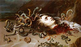 The Head of Medusa, c.1617/18 by Rubens | Painting Reproduction