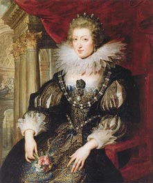Portrait of Anne of Austria, c.1621/25 by Rubens | Painting Reproduction