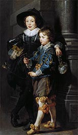 Double Portrait of Albert and Nikolaus Rubens, c.1626/27 by Rubens | Painting Reproduction