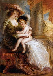 Helena Fourment with her Eldest Son, Frans, c.1635 by Rubens | Painting Reproduction