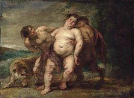 Drunken Bacchus with Faun and Satyr | Rubens | Gemälde Reproduktion