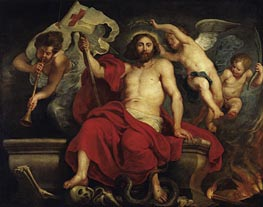 Christ Triumphant over Sin and Death, c.1615/22 by Rubens | Painting Reproduction