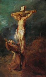 St. Francis of Assisi before the Crucified Christ | Rubens | Gemälde Reproduktion