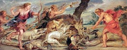 The Hunt of Meleager and Atalanta, c.1628 by Rubens | Painting Reproduction